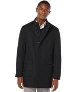 Perry Ellis Mens Wool Blend Topcoat 2 Way Zip Navy Size M L MyAFC - $98.98