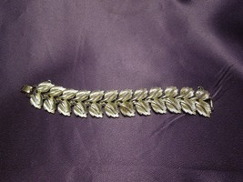 Coro Rare Pegasus Mark Silver Tone Leaf Bracelet Vintage Designer Signed - $54.45