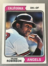 1974 Topps  #55 Frank Robinson Angels - $3.91