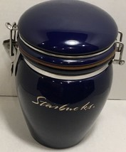 Starbucks Coffee Company Blue Silver Script Logo Canister Cookie Jar - $54.45