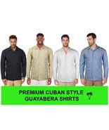 Guayabera Men's Cuban Beach Wedding Long Sleeve Button-Up Casual Dress S... - $21.99