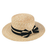 Hats New Fashion Bow Women Straw Sun Visor Hat Female Summer Flat Hats V... - $14.89