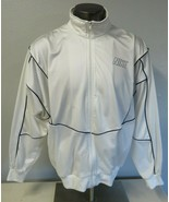 Vintage Mens NIKE Full Zip White Blue Jacket Size XL Polyester & Nylon 9... - $49.49