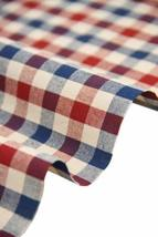 57'' Wide Home Quilting Fabric Cotton Plaids Fabric Red&Blue(17.557 Inches)