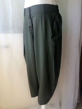 Women Army Green Wide Leg Pants Long Linen Pants Trousers Summer Harem Pants  image 3
