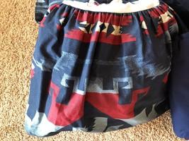 Ralph Lauren Cartwright Southwestern Aztec Pattern Queen Bedskirt - $65.09