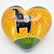 SMOLArt Hand Carved Soapstone Miniature Elephant Heart Trinket Figurine Kenya image 2