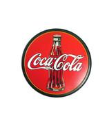 Coca-Cola Metal Tin Contour Bottle Disc Sign with Coca-Cola Logo- BRAND NEW - $14.85