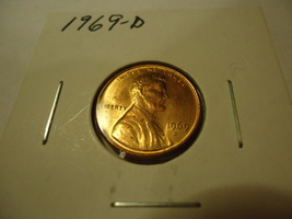 1969-D Lincoln Memorial Penny **Combined Shipping** - $1.00