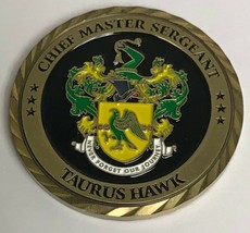 "USAF Air Force Materiel Management Chief Master Sergeant Taurus Hawk Coin 1.75"" - $49.49"