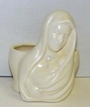 """MARY w/ Baby Jesus - Vintage 6"""" Ceramic Figurine Planter - $15.00"""