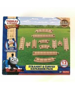 Fisher-Price Thomas & Friends Wooden Railway, Straight & Curved Expansio... - $25.73