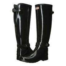 Hunter Boot Company Black Tall Gloss Original Rainboots 6 NIB - $123.26