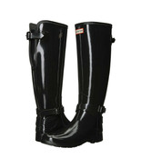 Hunter Boot Company Black Tall Gloss Original Rainboots 6 NIB - $123.26