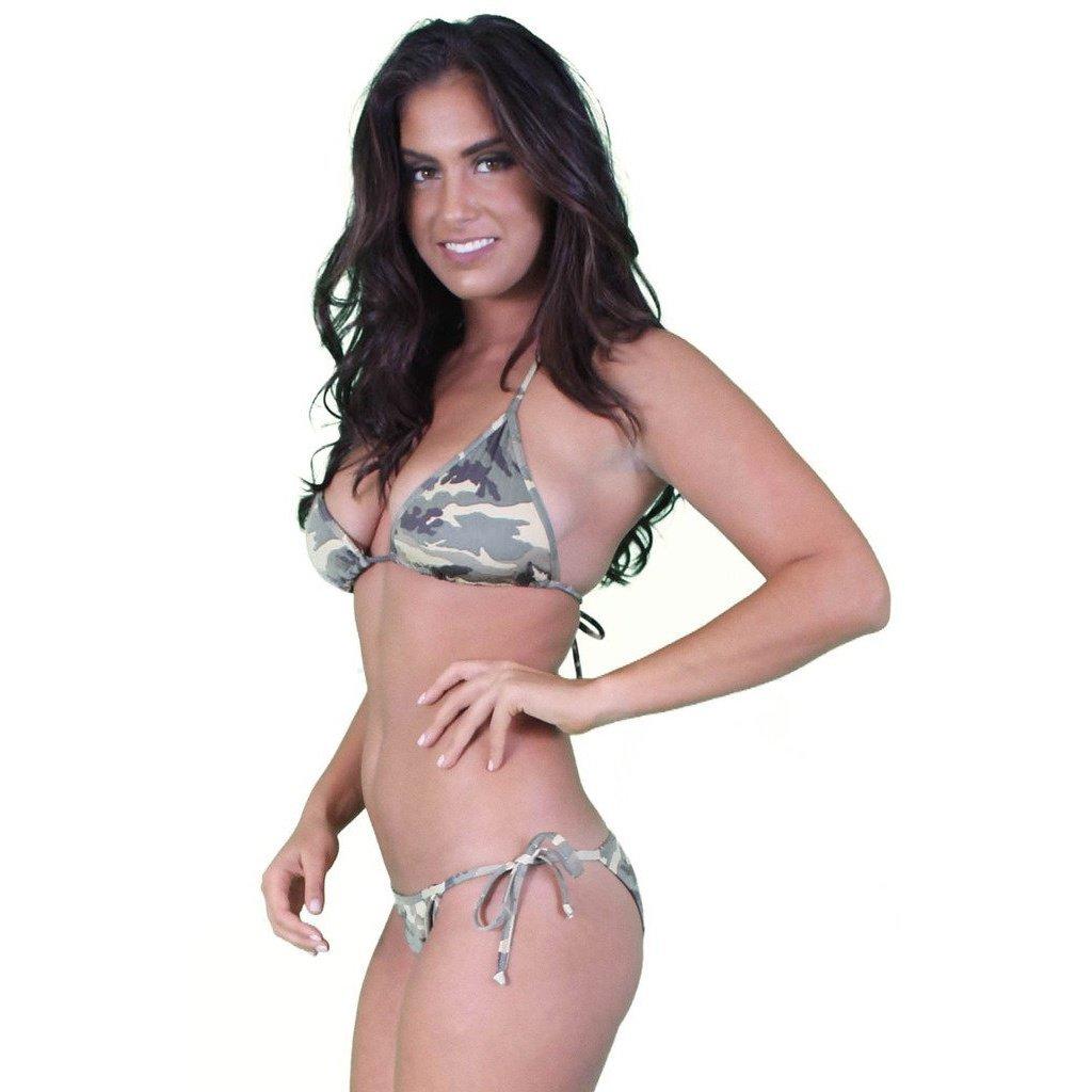 fc113aa1d2de7 Women's Juniors Brazilian Cut Camo Bikini Set Swimwear Made in the USA