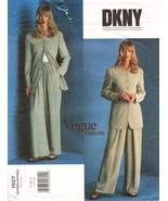 Misses Career Party Vogue American Designer DKNY Jacket Pants Sew Patter... - $11.99