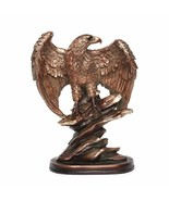 Spread Wings Eagle Statue Creative Resin Bird Falcon Ornaments Trophy Fi... - $94.05+