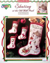 Skating at the Old Mill Pond Color Charts Christmas Cross Stitch Patterns - $4.95