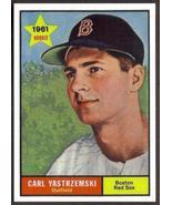 CARL YASTRZEMSKI Yaz Card RP #287 Red Sox 1961 Rookie T Free Shipping - $2.95