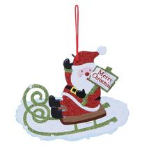 (02)Merry Christmas Shaped Hanging Letters Snowman Santa Claus Pendant C... - $14.00