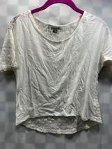 FOREVER 21 White Lace Shirt Top Women's Size S - $9.40
