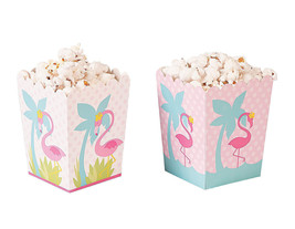 24 Pink FLAMINGO Popcorn Boxes LUAU Swimming Beach Party Decoration Favo... - $12.86