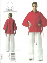 Vogue 1347 Chado Ralph Rucci Pattern Loose Shirt & Wide Leg Pants Choose... - $18.99
