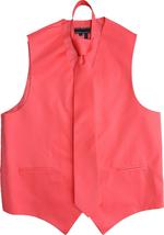 Men's Solid Color Adjustable Dress Vest & Neck Tie Set for Suit or Tuxedo image 6