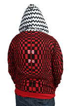 UGP Under Ground Products DIY Men's Red Checkered Zip Up Hoodie NWT image 2