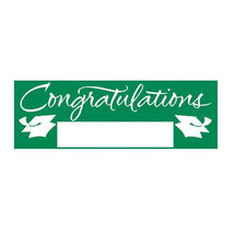 Fill In Emerald Green Grad Giant Party Banner 60 Inch x 20 Inch, Case of 6 - ₨2,734.11 INR