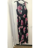 Jessica H Women's Navy/Fuchsia Pink Multi Floral Fit & Flare Maxi Dress ... - $23.13