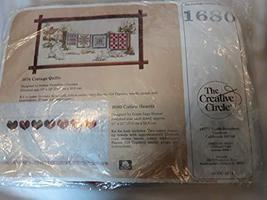 Vintage The Creative Circle Vintage Cross Stitch Kit #1680 Calico Hearts Towel K - $29.58