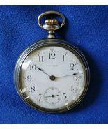 Antique Waltham Bond St 14 size 7 jewel Open Face silver Pocket Watch - $69.99