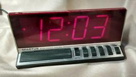 Spartus Large Display Electronic Digital Alarm Clock Model 1150 Vintage ~Works! - $9.89