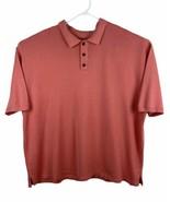 Tommy Bahama Men's 2XL Golf Polo Shirt Knit Peach Short Sleeves Silk Cotton - $23.36