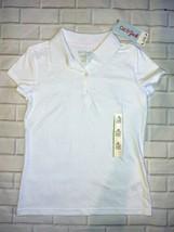 Cat & Jack Girls School Uniform Polo Shirt White Size M 7/8 - $9.74