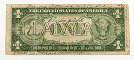 1935-A $1 Hawaii Silver Certificate in VG Condition with Pen Writing - $49.50