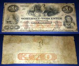 Somerset & Worcester Bank 1862 $1 - $226.71