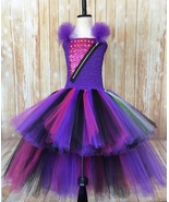 Mal Descendants High Low Tutu Dress, Descendants 2 Costume, Mal Costume ... - $55.00+