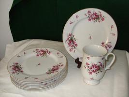 "Vintage Sheffield China ""Sweet Violets"" Plates - $34.99"