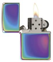 Spectrum Zippo Pocket Lighter Windproof Unique Oil Slick Rainbow Bling New - $34.14