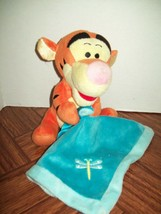 """Disney Plush 8"""" Tigger Winnie the Pooh Rattle Toy Lovey Security Blanket... - $15.61"""