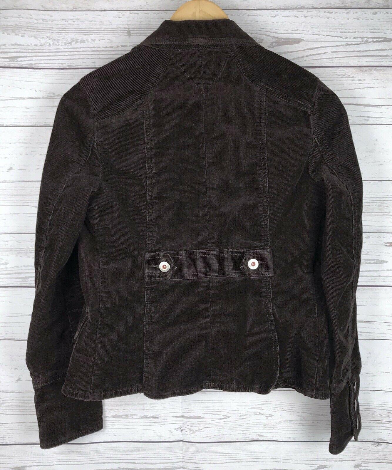 Tommy Hilfiger Corduroy Blazer Jacket Women's S Brown Stretch Button Long Sleeve image 8