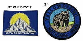 Lost in The Right Direction and Yellowstone National Park Series 2-Pack Embroide - $7.88