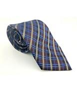 Kenneth Cole New York Multi-Color Blue Maroon Beige 100% SILK Handmade N... - $23.36