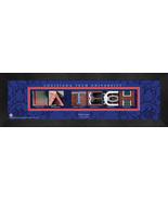 Personalized Louisiana Tech University Campus Letter Art Framed Print - $39.95