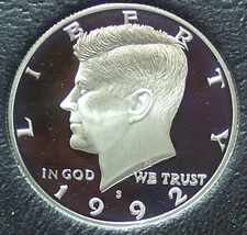 1992-S Ultra Cameo Silver Proof Kennedy Half Dollar #0781 - $14.99