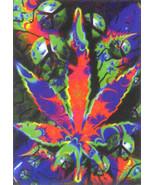 Psycho Leaf Poster Flag Psychedelic Peace Logo  - $14.99