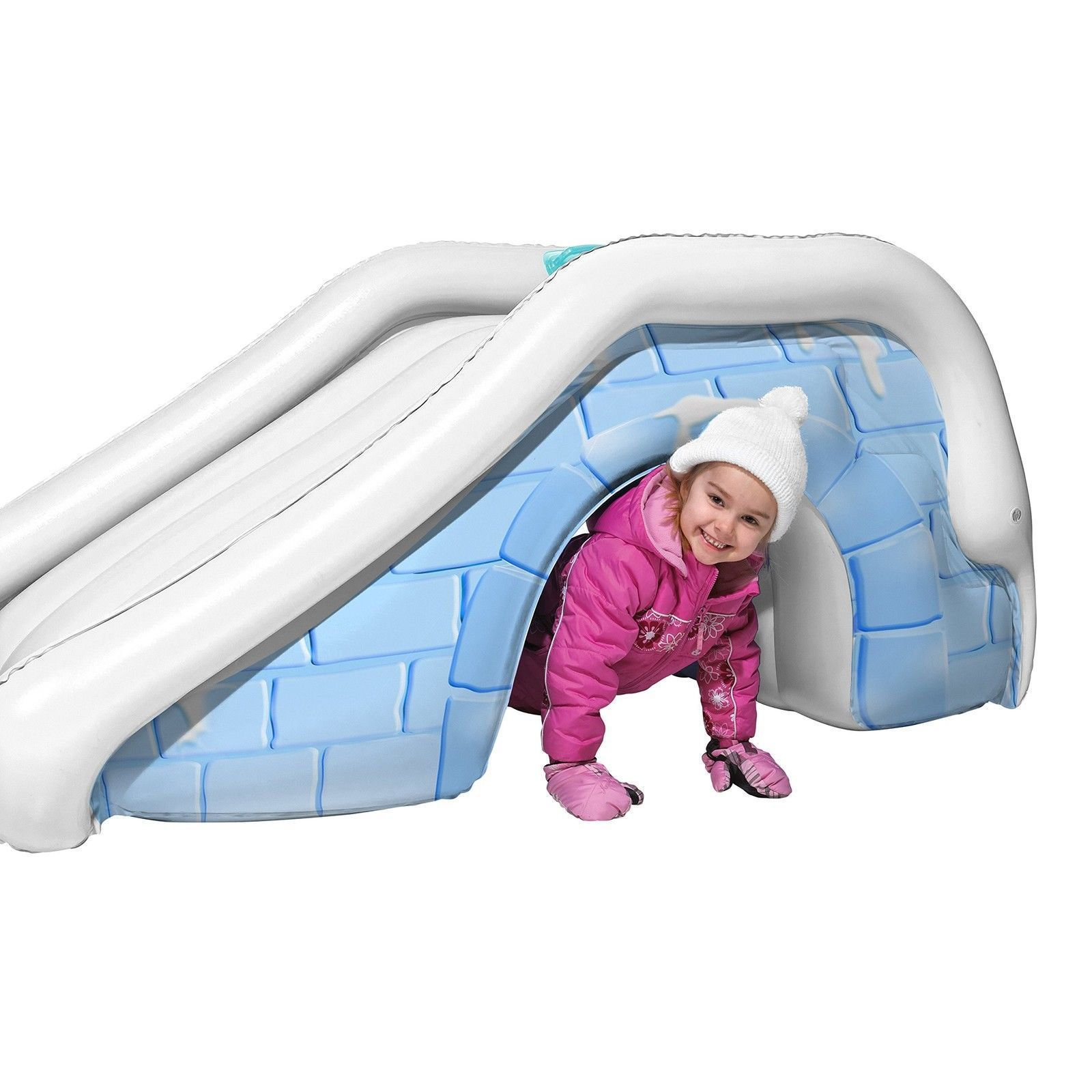 NEW! Kids Fun Outdoor Yard Igloo Snow Slide and Play Tunnel US