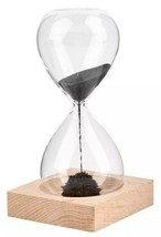 New Kikkerland Tabletop Magnetic Hourglass w Wooden Base 1 Minute Timer ... - $9.99